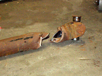 fractured, drive, shaft, tubing