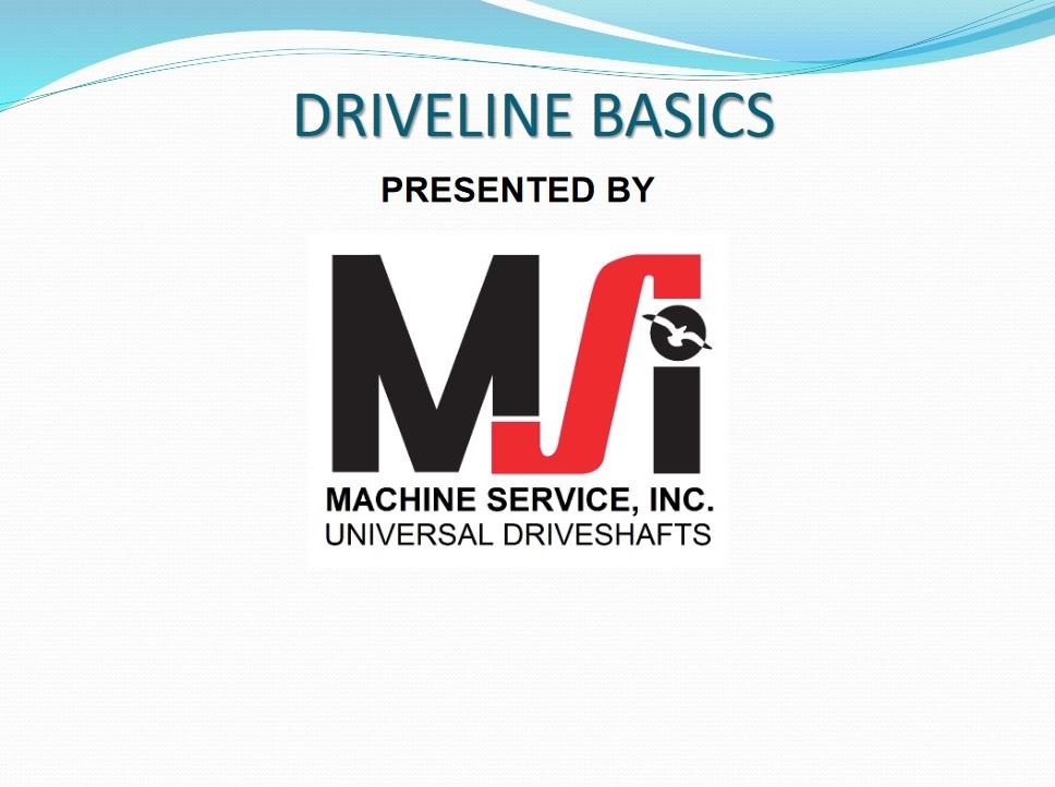Driveline Basics